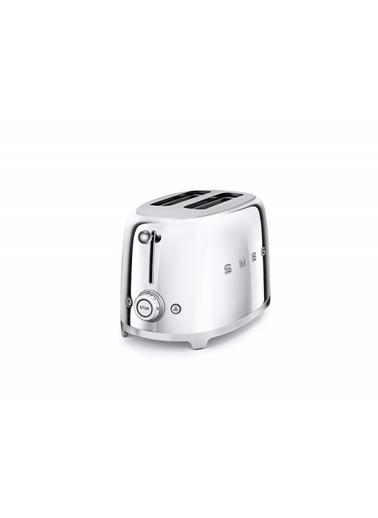 Smeg TSF01SSEU Linea 50's Retro Style Çelik İkili Ekmek Kızartma Makinesi Gri